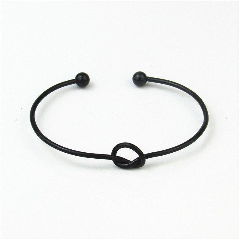 Best European Style Fashion Simple Knotted Hollow Cuff Bracelet