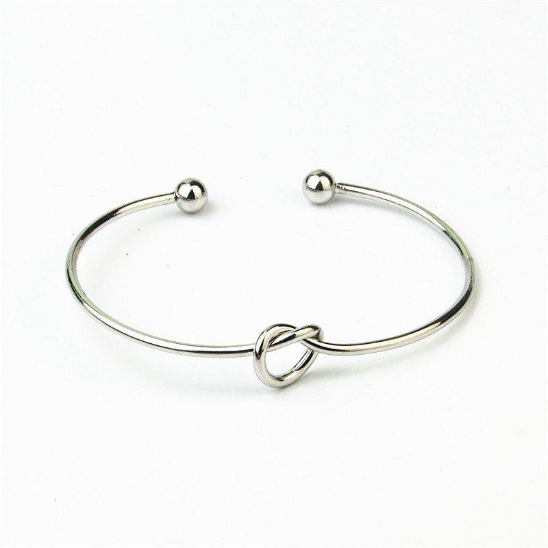 Store European Style Fashion Simple Knotted Hollow Cuff Bracelet
