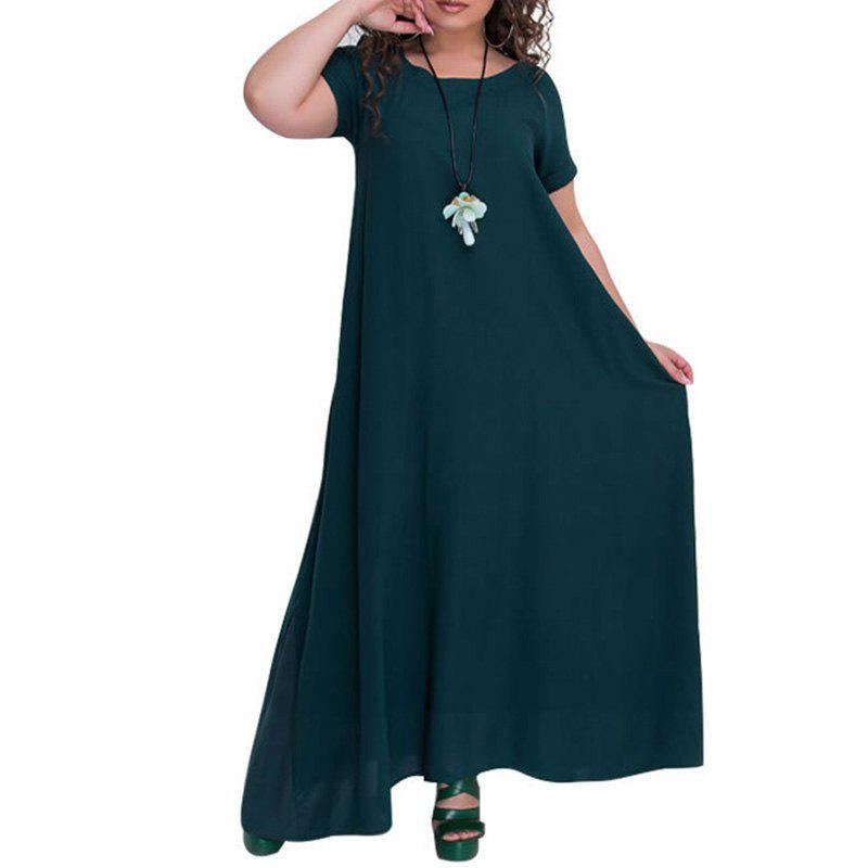 Store Plus Size Robe Solid Free Long Dress For Women 2018 Big Size
