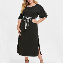 4XL 5XL Plus Size Autumn Women Dresses Half Sleeve 2018 Party Long Maxi Dress -
