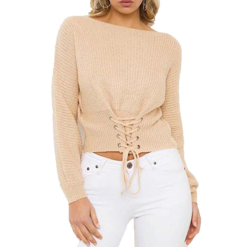 Trendy Women's Leisure Long Sleeved Sweater