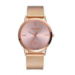 New Fashion Men and Women Mesh Belt Leisure Scale dial Quartz Watch -