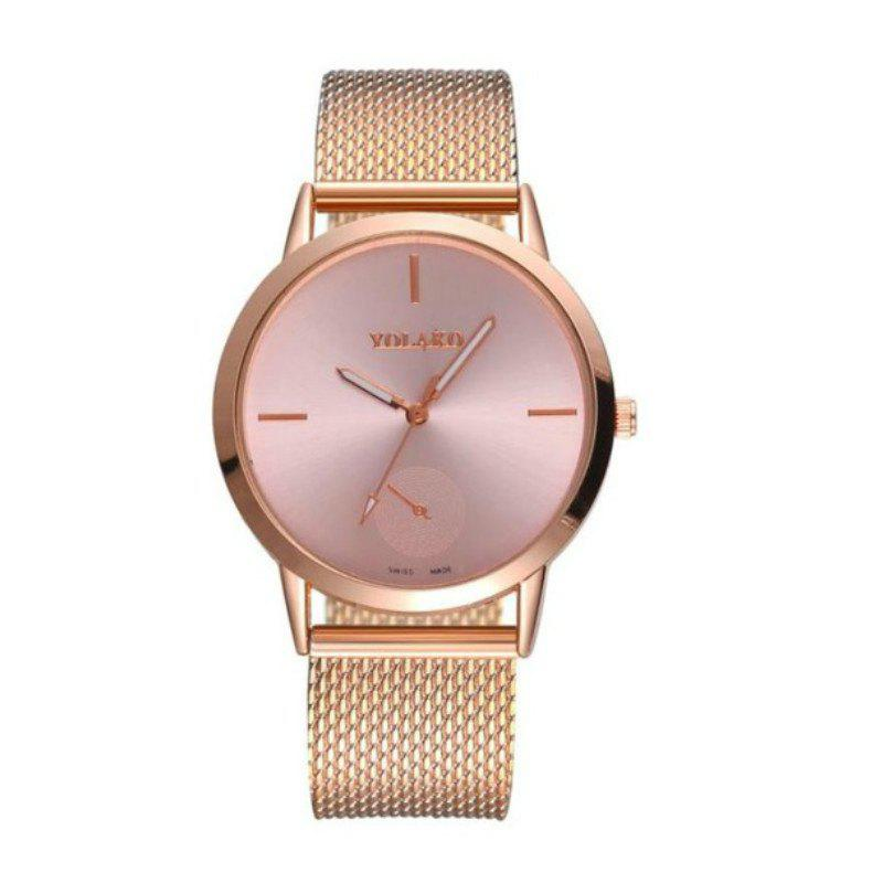 Chic New Fashion Men and Women Mesh Belt Leisure Scale dial Quartz Watch