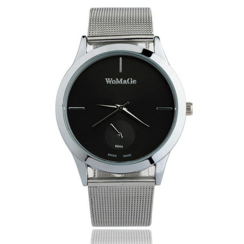 Online Fashion Men and Women Business Mesh Belt Leisure Creative Scale Dial Watch