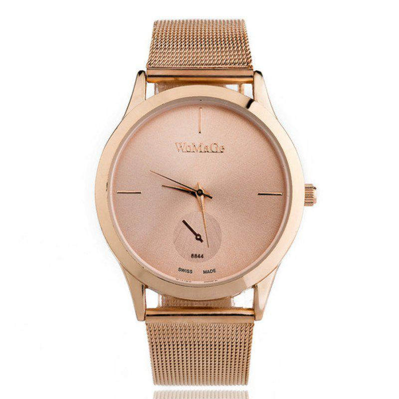 Outfit Fashion Men and Women Business Mesh Belt Leisure Creative Scale Dial Watch