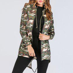 Long Sleeve Print Camouflage Cardigan Jacket -