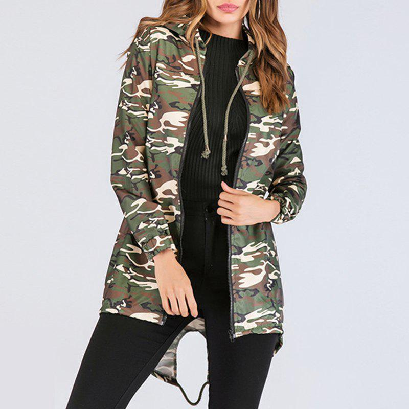 Shops Long Sleeve Print Camouflage Cardigan Jacket