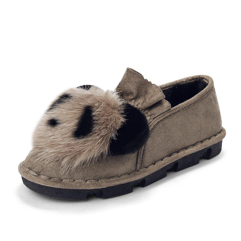Mules Fourrure Chaussures Femmes Pantoufles Panda Indoor Casual Loafers
