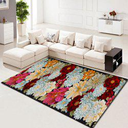 Living Room Rug Beautiful Flower Pattern Washable Rectangle Carpet -