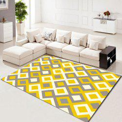 Washable Rug Lively Colorful Flower Pattern Home Use Soft  Carpet -