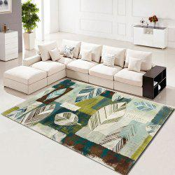 Rectangle Carpet Creative Leaves Pattern Washable Soft Home Rug -