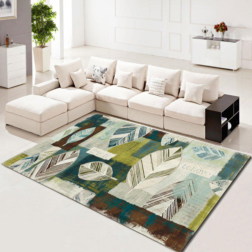 Shops Rectangle Carpet Creative Leaves Pattern Washable Soft Home Rug