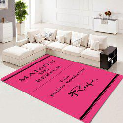 Rectangle Carpet Letters Pattern Washable Soft Home Rug -