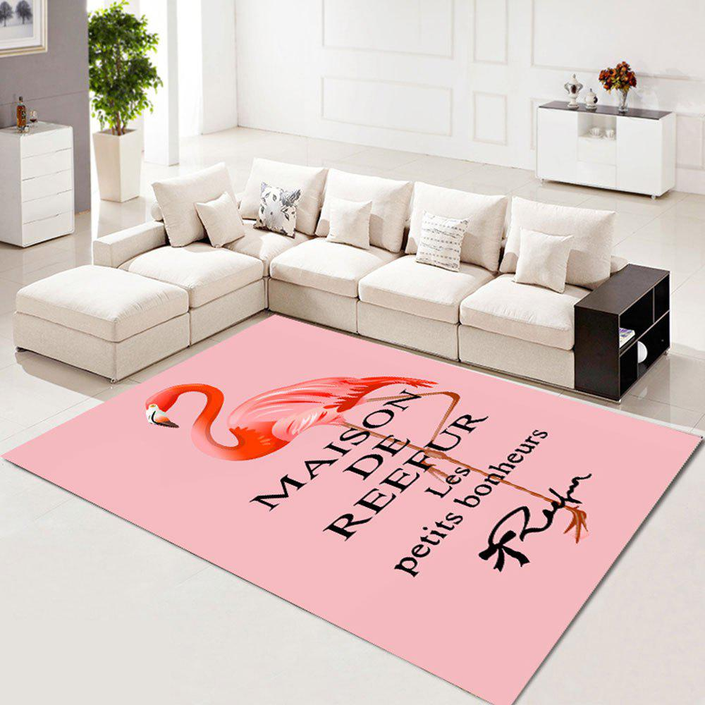 Buy Living Room Rug Beautiful Flamingo Pattern Washable Rectangle Carpet