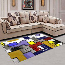 Living Room Rug Modern Geometric Pattern Comfy Soft Washable Carpet -