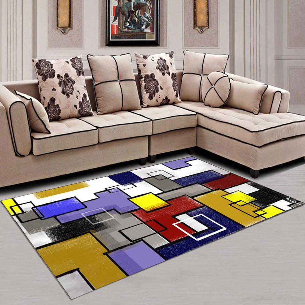 Best Living Room Rug Modern Geometric Pattern Comfy Soft Washable Carpet