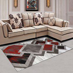 Living Room Carpet Geometric Pattern Color Block Washable Rug