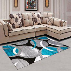 Washable Rug Modern Color Block Creative Washable Soft Carpet -