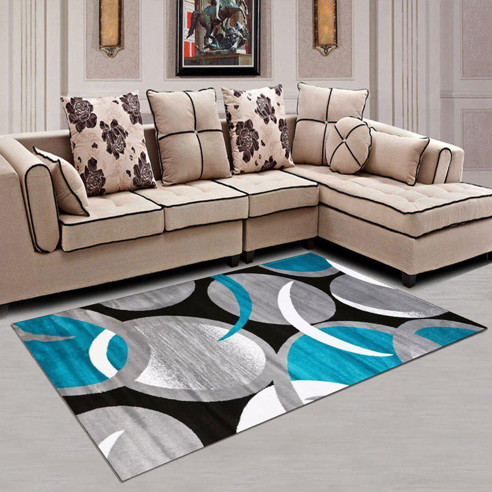 Affordable Washable Rug Modern Color Block Creative Washable Soft Carpet