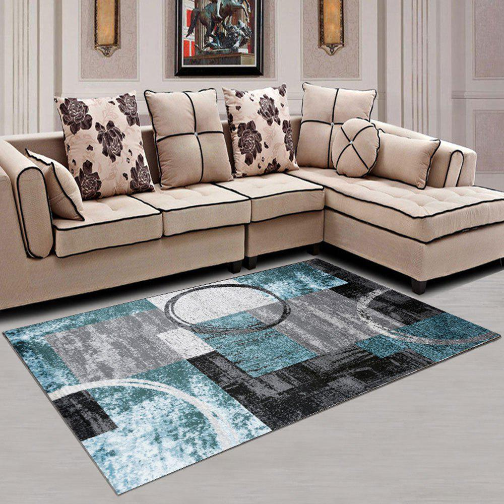 Trendy Home Use Soft Carpet Creative Rectangle Washable Rug