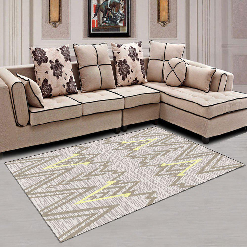 Outfit Living Room Carpet Simple Wave Pattern Soft Washable Home Rug