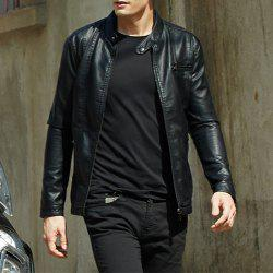Men'S New Style Men'S Leather Jacket Casual Leather Jacket -