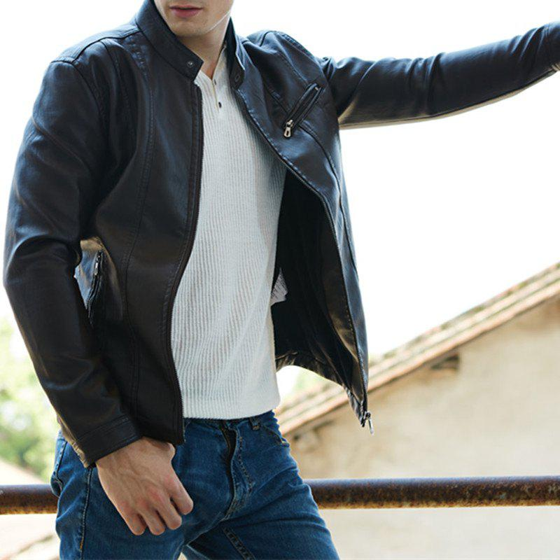 Shops Men'S New Style Men'S Leather Jacket Casual Leather Jacket