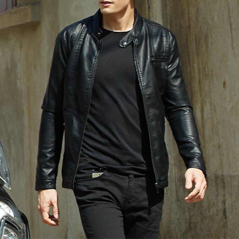 Shop Men'S New Style Men'S Leather Jacket Casual Leather Jacket