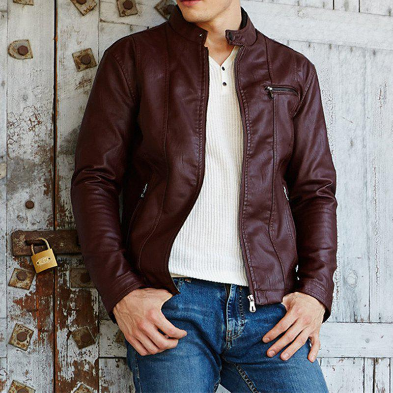 New Men'S New Style Men'S Leather Jacket Casual Leather Jacket