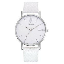Fanteeda Fd237 Women'S Trend Alloy Brand PU Belt Quartz Watch -
