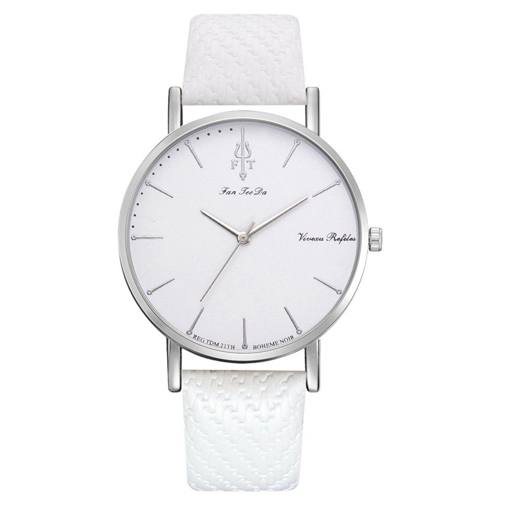 New Fanteeda Fd237 Women'S Trend Alloy Brand PU Belt Quartz Watch