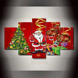 Christmas  Frameless Printed Canvas Art Print 5PCS -