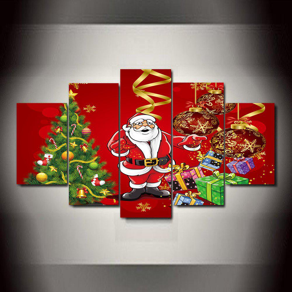 Store Christmas  Frameless Printed Canvas Art Print 5PCS