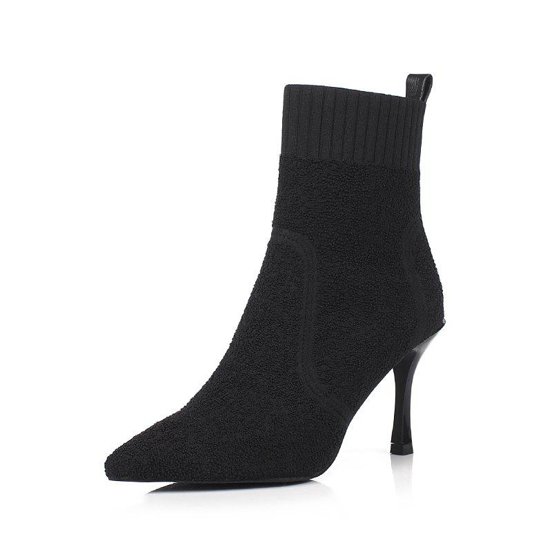 Trendy Louise Et Cie Knitted Stiletto Ankle Bootie Bootie