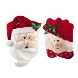 Christmas Claus Mrs Chair Covers Santa for Holiday Decor (Set of 2) high-grade -