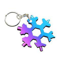 Creative Multi-Function Snowflake Gadget Can Be Used As A Keychain -