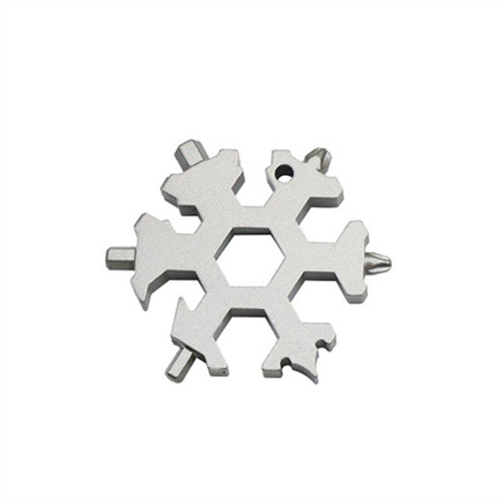 Trendy Creative Multi-Function Snowflake Gadget Can Be Used As A Keychain