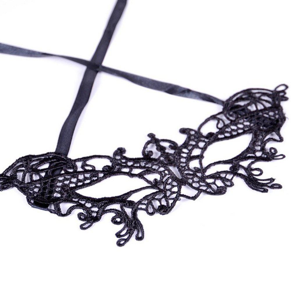 Sexy Femmes Black Lace Masquerade Masque Halloween Cosplay Carnaval Party Prop 10