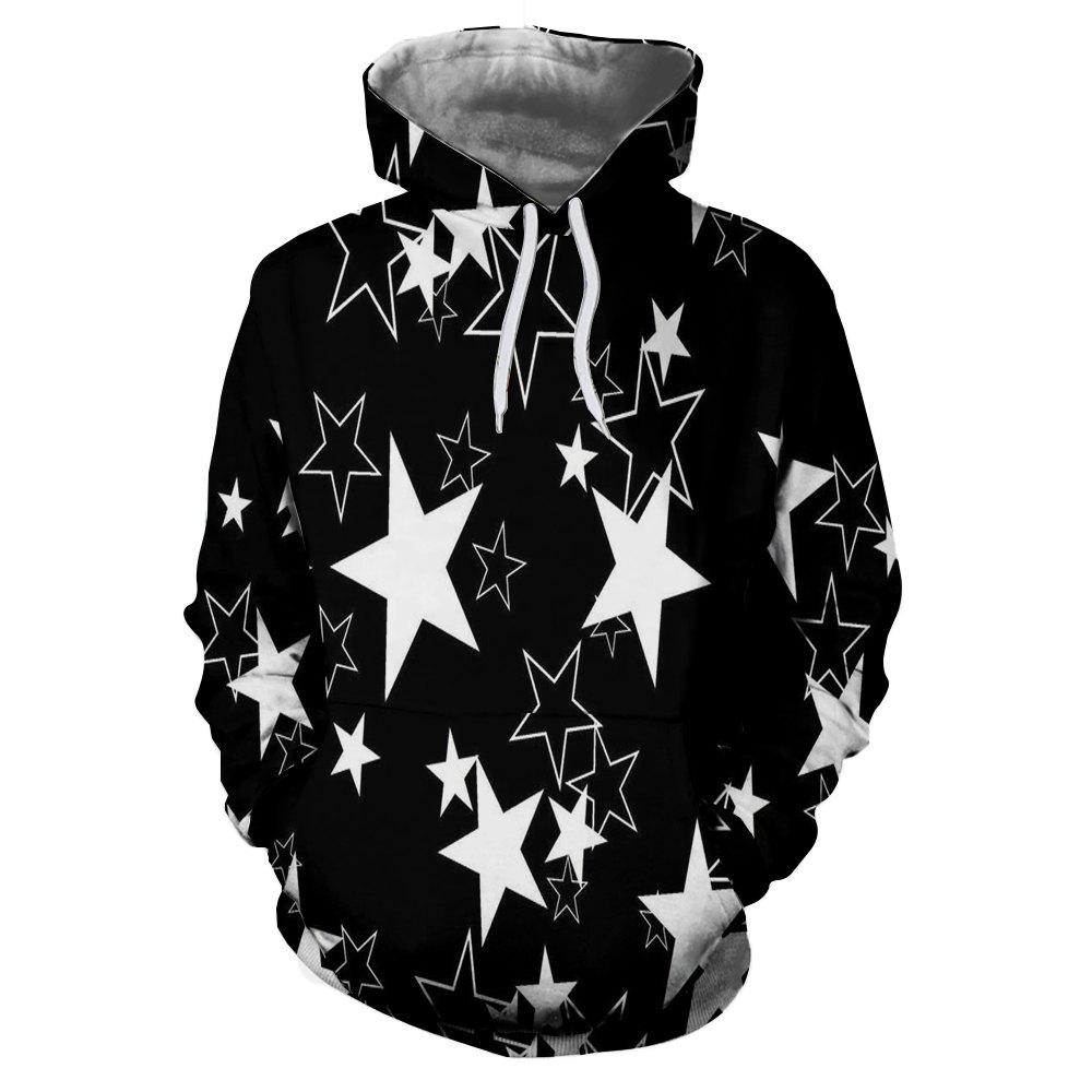 Chic 3D Winter Sports Pentagram Print Lady Hoodie
