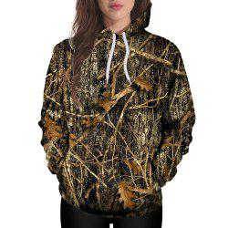 3D Winter Fashion Sports Tree Print Lady Hoodie -