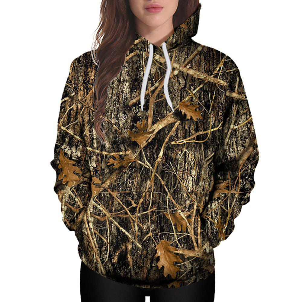 Sale 3D Winter Fashion Sports Tree Print Lady Hoodie