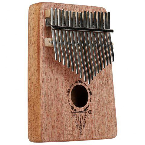 Feather 17 Key Acajou Kalimba African Thumb Clavier Percussion Clavier