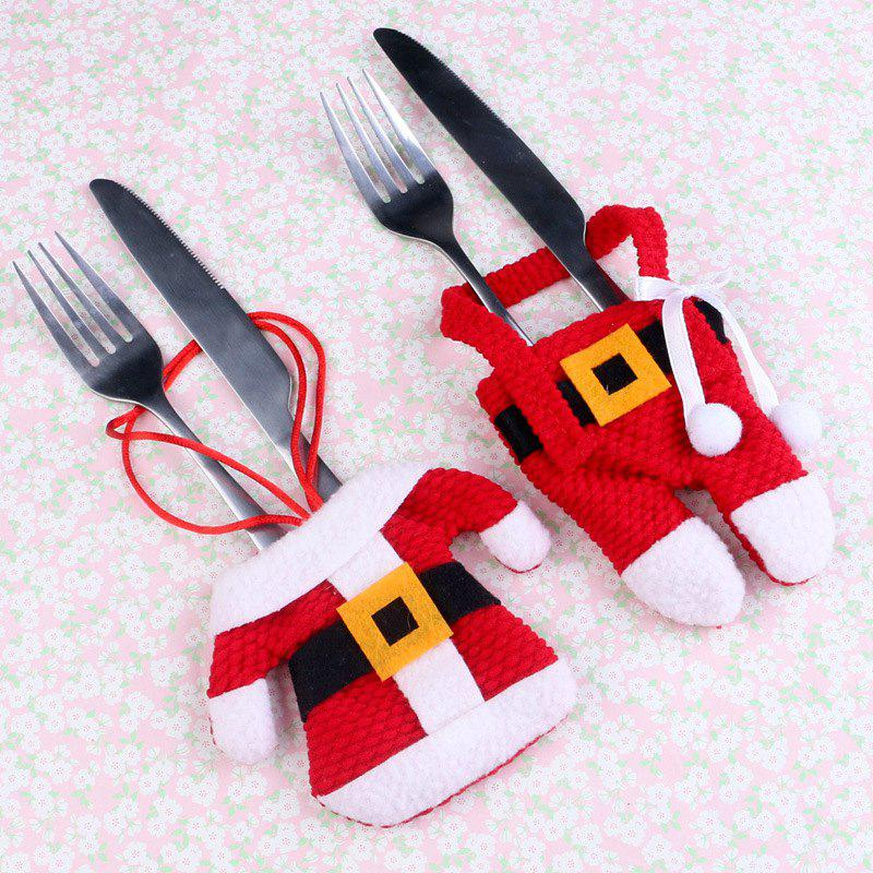 Affordable Christmas Table Cutlery Set Small Clothes Small Pants D001