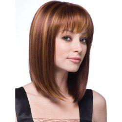 Stylish Natural Synthetic Straight Hair Style Wig-010a -