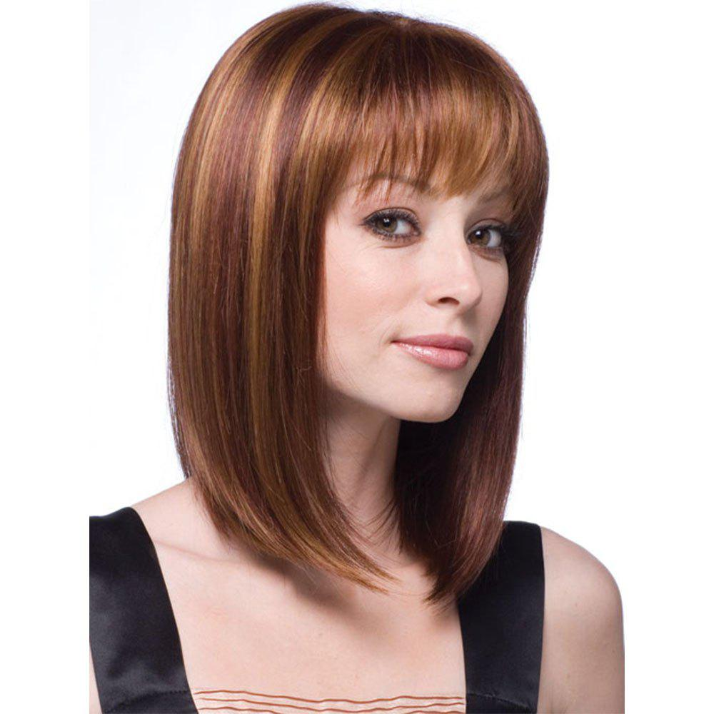 Outfit Stylish Natural Synthetic Straight Hair Style Wig-010a