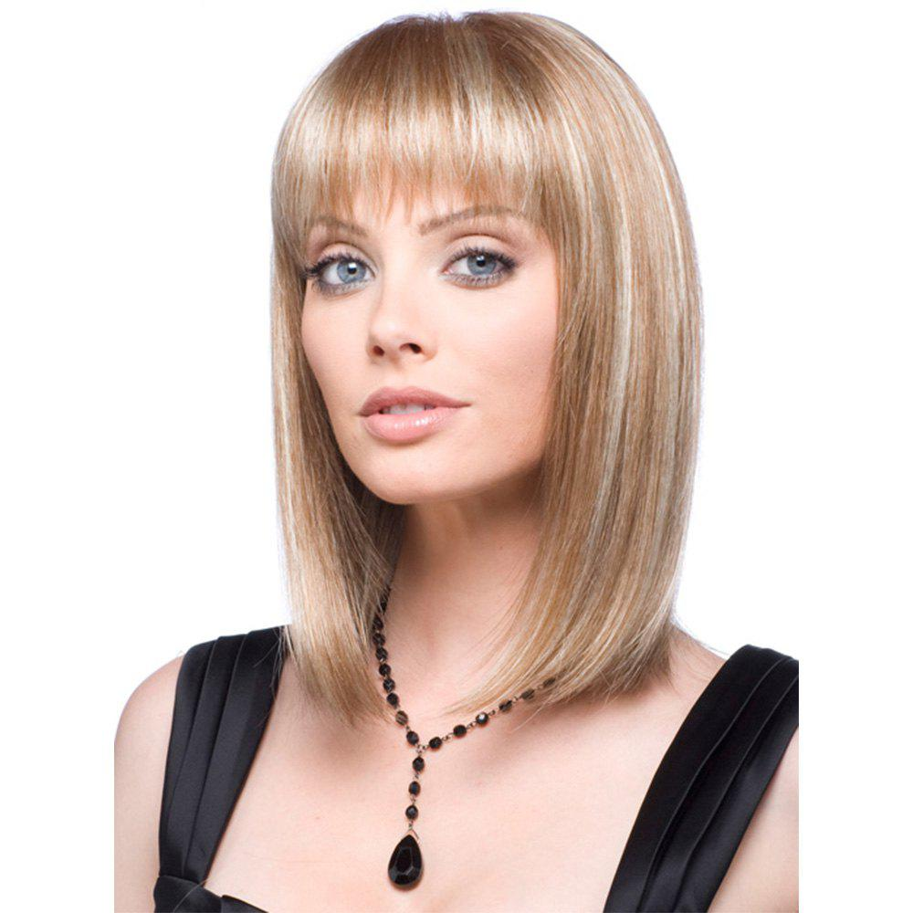 Chic Stylish Natural Synthetic Straight Hair Style Wig-010a