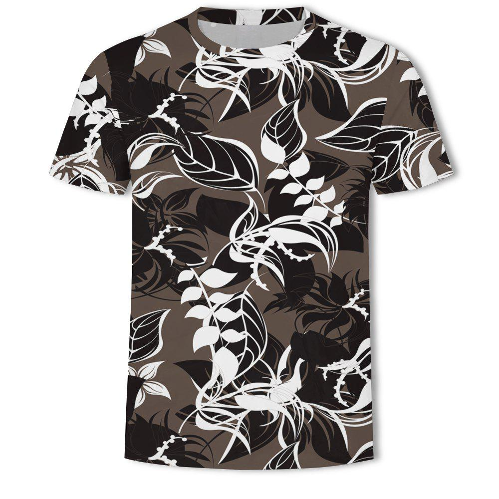 Latest Men's New Simple 3D Printed Short-Sleeved T-Shirt