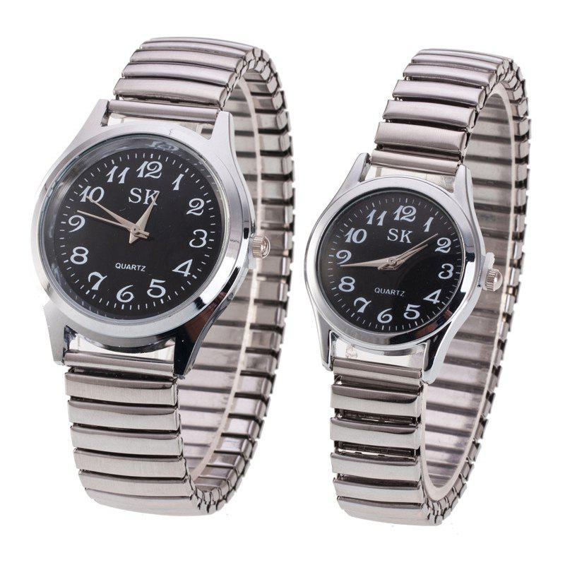 Best Fashion Spring Steel Band Simple Digital Scale Universal Lovers Watch
