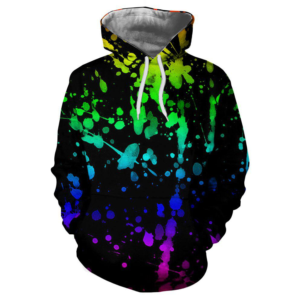 New 3D Fashion Ladies Digital Print Drop Hoodie