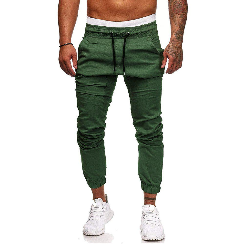 Chic Men's Fashion Casual Tether Elastic Sports Pants Trousers Sweatpants